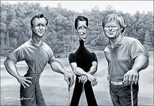 "Big 3. A Tribute to Palmer, Player & Nicklaus Giclee Fine Art Print 22"" by 28"""