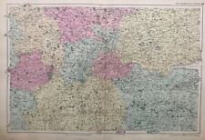 1899 Antique Map; Environs of London - Bacons Large Scale London Atlas.