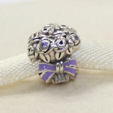 New Authentic Pandora Charm Celebration Bouquet 797260NLC Bead W Suede Pouch