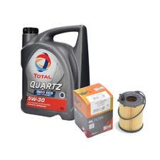 TOTAL QUARTZ INEO ECS 5W30 5l e Filtro olio CHAMPION, CITROEN PEUGEOT FIAT VOLVO