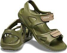 Crocs Swiftwater River Mens Khaki Green Walking Sports Adjustable Summer Sandals