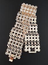 Pompös Rosegold Gold Armband 18 Karat vergoldet Altin Bilezik Bileklik Zirkonia