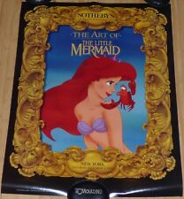 WALT DISNEY ART OF THE LITTLE MERMAID 1990 ORIG SOTHEBY'S NEW YORK POSTER ARIEL