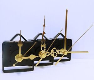 New Quartz clock movement with Gold hands, ticking or sweep mechanism available