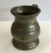 Antique Pewter Half (1/2) Gill Measure Tankard 6.5cm In Height