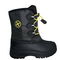 XTM Rocket Kids Winter Apres Snow Boots BLACK Euro 25-36