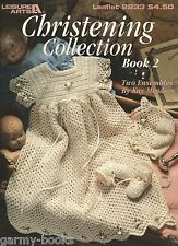 Christening Collection #2 Kay Meadors Crochet Patterns Baby Gowns Booties LA2833
