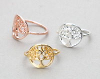 Deluxe Tree of Life Ring in FREE Gift Bag/Box! Silver Gold Rose UK Sacred Oak