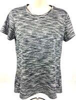 Reebok Women's Short Sleeve 100% Polyester Athletic T-Shirt Size Medium