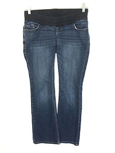 Old Navy Maternity Jeans Low Rise Knit Panel Boot Cut Stretch Womens 1S 1 Short