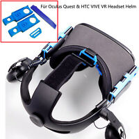 Für Oculus Quest & HTC VIVE VR Headset Helm Headband Connector Adapter Halterung