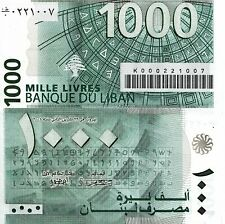 LEBANON 1000 Livres Banknote World Paper Money UNC Currency Pick p84b 2008 Bill