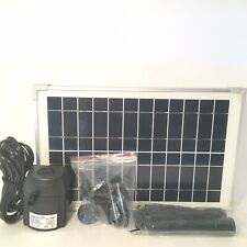 Solariver Solar Water Pump Kit 160+ GPH with 12v Water Pump and 12w Solar Panel