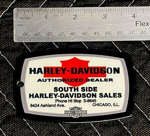Harley Davidson Authorized Dealer Porcelain Like Magnet Gas Oil Motorcycle