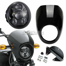 """5-3/4"""" LED Projector Daymaker Headlight + Fairing For Harley Dyna Sportster XL"""
