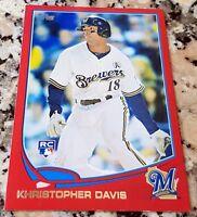 KHRIS DAVIS 2013 Topps RED SP Rookie Card RC Logo Oakland A's 42 HRs 102 RBIs $$