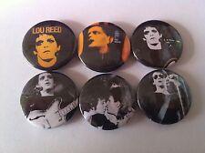 6 Lou Reed Pin Button badges 25mm Velvet Underground Transformer Lulu Berlin