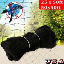 Anti Bird Netting 50'X50' Soccer Baseball Poultry Aviary Game Pens 600D Nylon