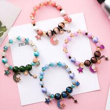 Women Bangle Star Moon Handmade Bead Bracelets Colorful Jewelry T3