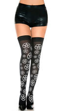 One Size Fits Most Womens Star Pentagram Thigh High Stockings, Pentagram