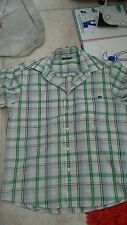 Refb86)Pierre cardin shirt size M. Short sleeve check pocket