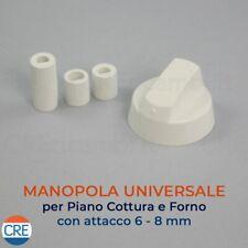 piano cottura Manopola Bianco forno UNIVERSALE adatto alla Belling bianca fornello