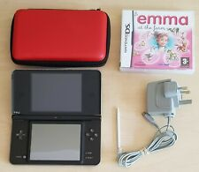 DSi XL Console + DS Game + Official Charger + Stylus + Hard Case