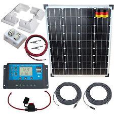 80W Mono Solar Kit - Panel, Mounts, Gland, USB Controller, German Solar Cells