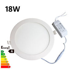 LED Recessed Ceiling Panel Downlight Ultraslim 18W Round Day Cool Natural White