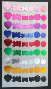 Dog Pet ID Tags Disc Dog Name Tag Dog Tag or Cat Tag Laser Engraved