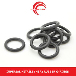 Imperial Nitrile Rubber O Rings 2.62mm Cross Section BS102-BS125 - UK SUPPLIER