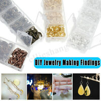 1450Pcs/Set DIY Jewelry Making Findings Kit Metal Loops Open Jump Rings