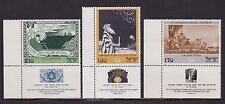 ISRAEL 1977 Art PAINTINGS by E.M. LILIEN Tab Stamp Set # MNH 625-627 MNH