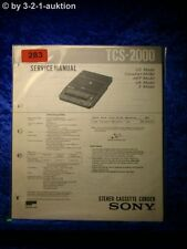 Sony Service Manual TCS 2000 Cassette Corder (#0283)