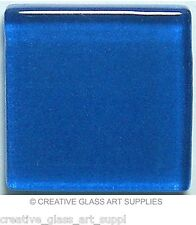 50 ct - 3/8 inch Royal Blue Glass Mosaic Tiles