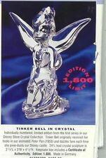 Disney Tinkerbell Peter Pan Crystal Figurine Last one Left get it now