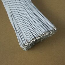 50PCS White 15cm Double Headed Tinned Cable Fly line Thin wire 7 Cores