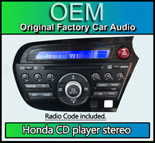 Honda Insight CD player radio stereo, Honda 39100-TM8-E03, car headunit + Hazard