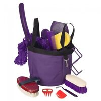 Tough-1 Purple 12 Piece Show Time Groomer's Kit  Horse Tack