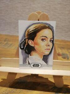 Star Wars Topps Sketch Card, Queen Padme Amidala, Marcia Dye