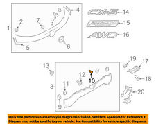MAZDA OEM EXTERIOR TRIM-FENDER-Wheel Opening Molding Retainer Clip KB8A51W24A