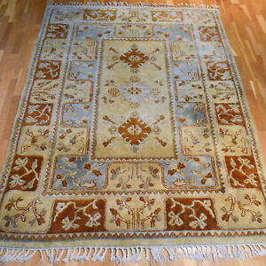Turkish Milas Handmade Vintage Traditional Oriental Wool Rug 230 X 165cm