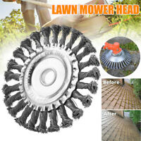 Weed Brush Steel Wire Trimmer Wheel Garden Lawn Mower Grass Cutter Head Tool