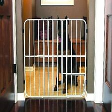 Extra Tall Dog Gate Pet Fence Baby Child Safety Wide Indoor Expandable Metal NEW