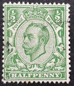 DUZIK: GB KGV SG346 1/2d. green used stamp (No1359)**