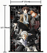 Hot Anime Bungou Stray Dogs Wall Poster Scroll Home Decor Cosplay 1232