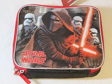 "Disney Star Wars soft lunch box cooler bag SCHOOL snacks Lunch 9"" X 7.5"" X 3.5"""