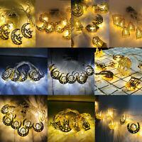 10 LED String Fairy Light 1.65M Islamic Ramadan Eid Mubarak Party Decor Battery