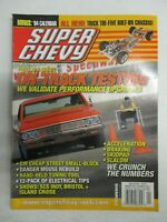 SUPER CHEVY MAGAZINE JANUARY 2004 GM STREET SMALL BLOCK TRI FIVE BOLT ON CHASIS