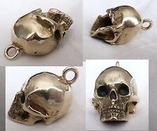 Schädel Skull Totenkopf  Memento Mori Messing? Bronze Anhänger